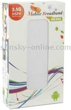 Sign Random Delivery Networking Devices 7.2Mbps HSDPA 3G USB 2.0 Wireless Modem with TF Card Slot White