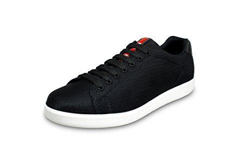 (Prada Men's Nylon Mesh Sneaker, Black 4E2988 (10.5 US UK 9.5))