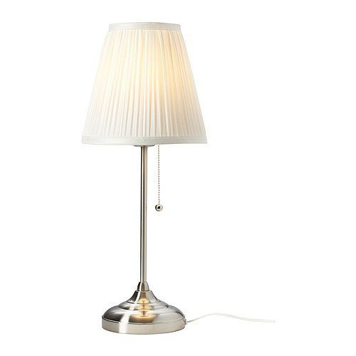 Ikea nachttischlampe  Ikea 602.806.39 Arstid Table Lamp, Nickel Plated White - - Amazon.com