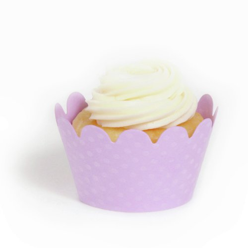 Dress My Cupcake Lavender Wrappers