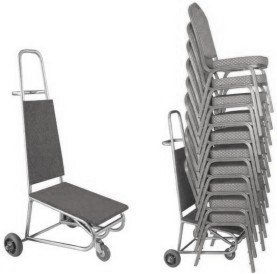 chair trolley chair cart for moving stacking chairs robust easy to