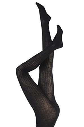 b9658fcf17d74 Ladies 1 Pair Elle Ribbed Bamboo Tights: Amazon.co.uk: Clothing