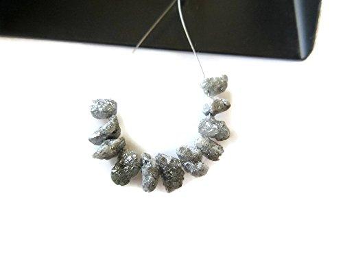 5pcs Huge Gray Raw Diamond Spikes, Rough Natural Diamond, Rare One Of A Kind Diamonds, 8-10mm-Dds107/3 (Diamond Spike)