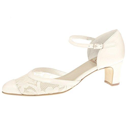 Fiarucci - Zapatos de vestir de Piel para mujer Hueso blanco perla