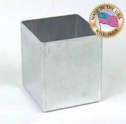 """3"""" X 3 1/2"""" Square Aluminum Candle Mold for Square Pillar Candles"""