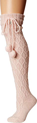 UGG Women's W Sparkle Cable Knit Sock, seashell pink, O/S ()