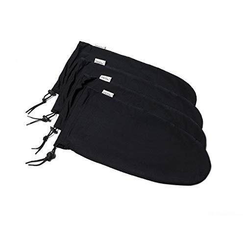 Shooin EZ-Pack Expandable Travel Shoe Bags with Locking Drawstring -