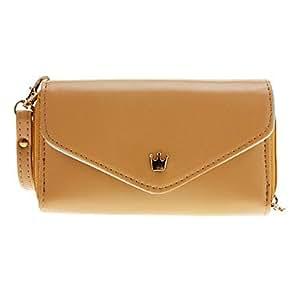 compra Sobre de la carpeta del estilo de la PU bolsa de cuero Bolsas para Samsung / Móviles Iphone de menos de 5 pulgadas (Brown)
