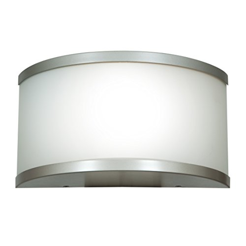 (Access Lighting 20397-SAT/OPL 180 Collection One Light Wall Sconce with Opal Glass Shade,)