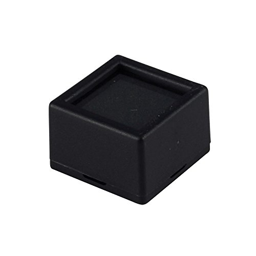 12 Gem Jars - Black Square Glass Top with 2-sided Foam Insert Gemstones Jewelry Display