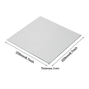 Wisamic Clear Borosilicate Glass Heat Bed 220x220x3mm for 3D Printers MK2/MK2A, Anet A8, Anet A6, Reprap, Mendel from Wisamic