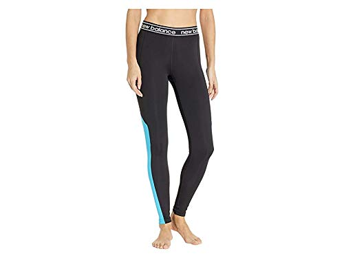 - New Balance Women's Color Block Accelerate Tights Polaris/Black X-Large 28.5