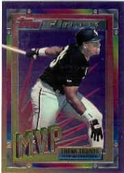 1994 Topps Traded Finest Inserts Baseball Card #7 Frank Thomas