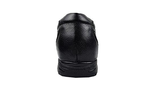 7 Chaussures Couleur 40 Noir qualité Taille de réhaussantes en pour Haute Taille Hommes à Ajoutez Fait cm Zerimar Votre Cuir aXdxFwd