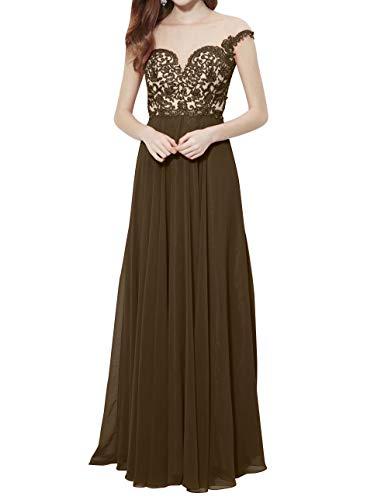 La 2018 Spitze Lang Abendkleider Festlichkleider Partykleider Braut Durchsichtig Elegant Braun Promkleider Neu mia Brautmutterkleider 1zWr1qwg