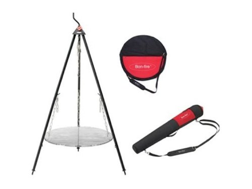 Bon-fire 110045 5-Piece Tripod Grilling Set with Carrying Bags