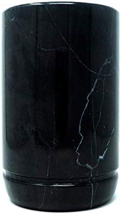 LUHOM LUJOSO HOGAR MEXICO Enfriador para Botellas de Vino de Mármol | Enfriabotellas | Cubitera de Vino | Recipiente de enfriamiento | Enfriador de Botellas en Negro Monterrey