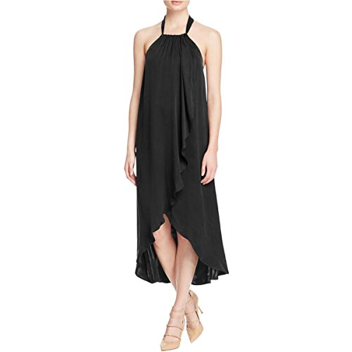 Ella Moss Women's Seti Wrap Front Dress, Black, X-Small (Ella Wrap Moss)