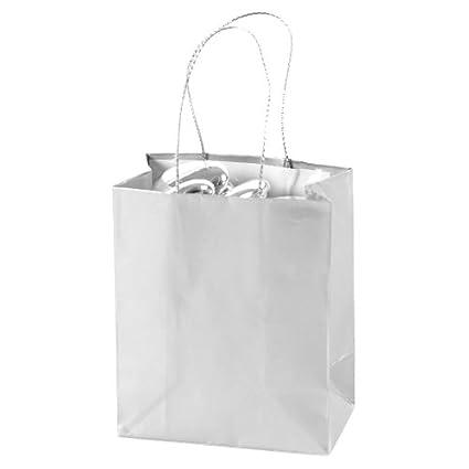 amazon com mini silver gift bags 2 dz gift wrap bags office