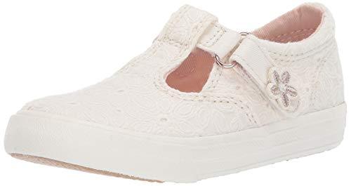 Keds Girls' Daphne Sneaker White Eyelet 060 Medium US Toddler