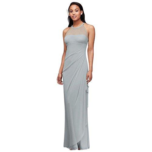 Mesh Extra Bridal Mystic Neckline 4XLF15662 Style Bridesmaid Dress Illusion Length David's qt5dw477