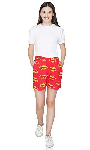 Zadell Designs Relaxed Tailored Shorts  Batman Print