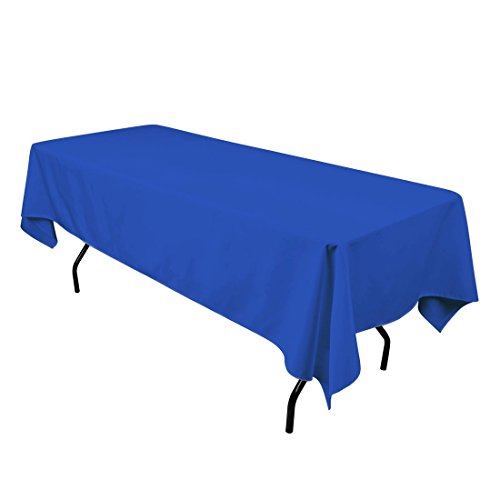LinenTablecloth 60 x 102-Inch Rectangular Polyester Tablecloth Royal Blue