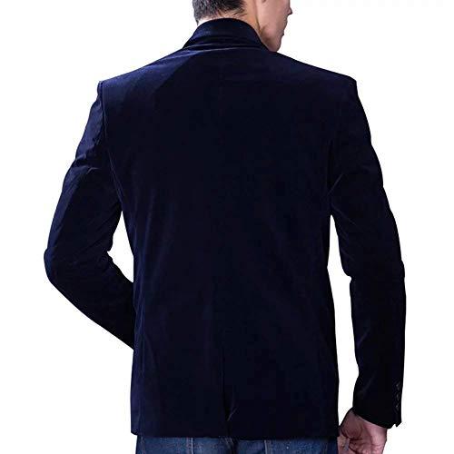 Hombres Algodón Pana Ocio Cómodos Blazer Navy Casual Traje Formal Tamaños Chaqueta Nner Blue Chaquetas Slim Negocios De Corte Ropa Cena Para Elegante 08xxwqtT