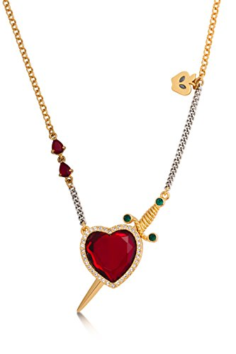 - Disney Couture Snow White Red Crystal Heart and Dagger Necklace