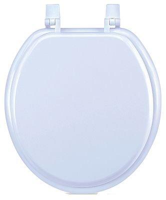 SUNSTONE INTERNATIONAL 100-WHT-RD White Round Front Wood Molded Toilet Seat, 17''