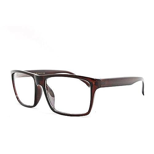 Square Brown Frame Glasses: Amazon.com