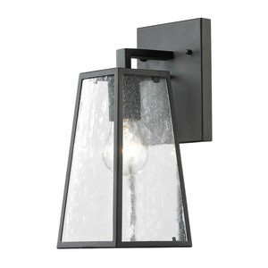 Elk Lighting 45090/1 Meditterano Collection 1 Light Outdoor Sconce, Textured Matte Black ()