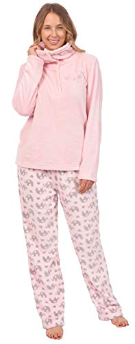 Patricia Women's Soft Minky Polar Fleece 2 Piece Pajama Sets (Pink Elephant Print, Small)