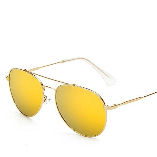Chahua Dans lrétro classique dans les lunettes fashion lunettes de soleil Lunettes de soleil en métal, D.