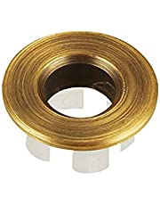 Sink Basin Trim Overflow Cover Brass Insert in Hole Round Caps