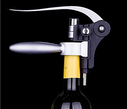 Casavidas 1PC Black Rabbit Stainless Steel Red Wine Opener Tool Kit Cork Bottle Tire Corkscrew Collar Pourer Gift Set OK 0377