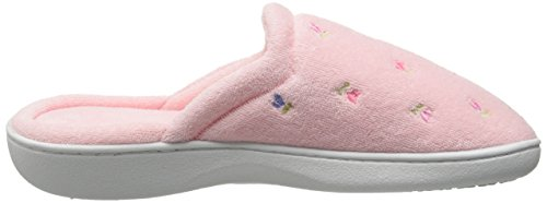 Isotoner Women's Classic Terry Clog Slip on Slipper Pink 9soaQb6