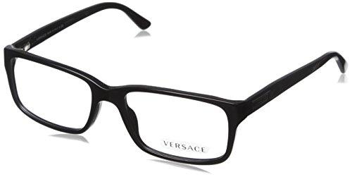 Versace Eyeglasses VE 3154 BLACK GB1 54MM - Versace Mens Glasses Prescription