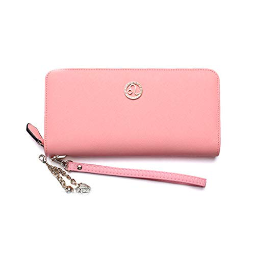 Muziwenju Women's 12 Constellation Leather Wallet, Clutch, Big Travel Wallet, Women's Zipper Wallet, Women's Boxed Gift, Love Gift (Pink) Latest Style, Practical (Color : Leo)