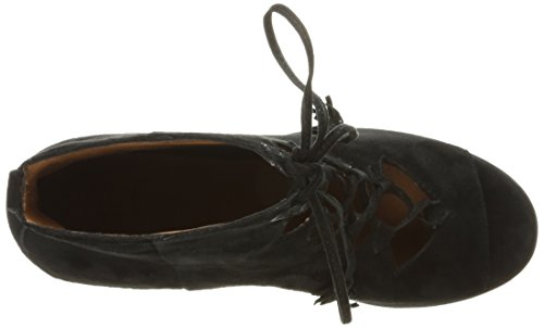FRYE Women's Gabby Ghillie Dress Sandal Black Suede