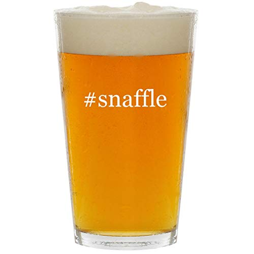 #snaffle - Glass Hashtag 16oz Beer Pint