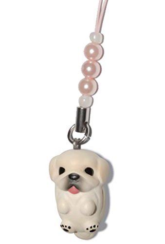 Pekingese [ PetLovers ] 92 Dogs Kawaii Strap Charm for Cell Phone and Medias [Pink beads] DN-2601