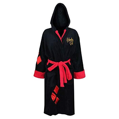 DC Comics Harley Quinn Bombshell Ladies Fleece Robe (One Size) Black 0b0c61e10