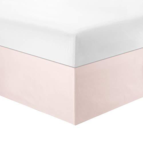 WINLIFE Dust Ruffle Bed Skirt Solid Bed Skirt Wrinkle Resistant Microfiber Bed Skirt 14-inch Drop Pink,Full