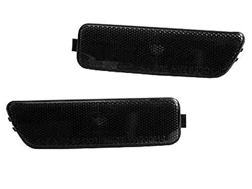 - TopPick Bumper Reflector Lights FOR VW Volkswagen MK4 Golf/Jetta 1999-2005 Smoke/Black 1JM945071-BF-1JM945072-BF