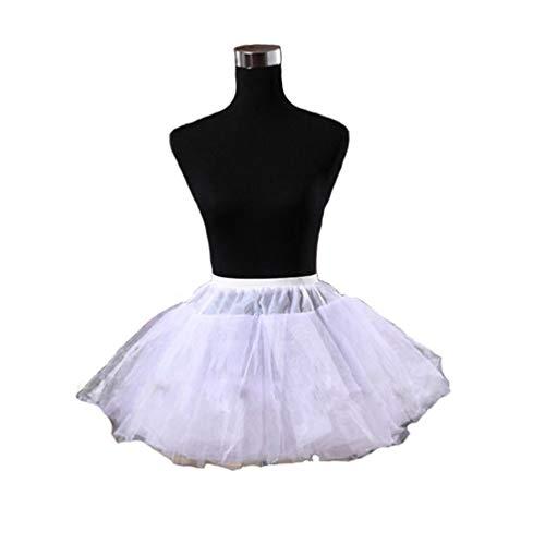 Angela Petticoat for Girls Womens Mini Short Tulle Crinoline Underskirt (One Size, -