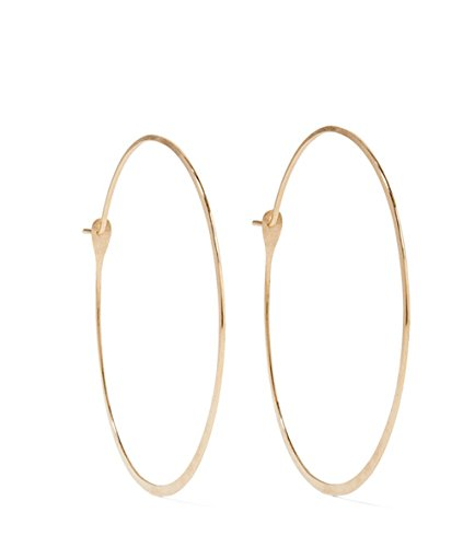 Melissa Joy Manning 1.5 Inch Extra Large Round 14k Gold Hoop - Melissa Earrings Manning Aquamarine Joy