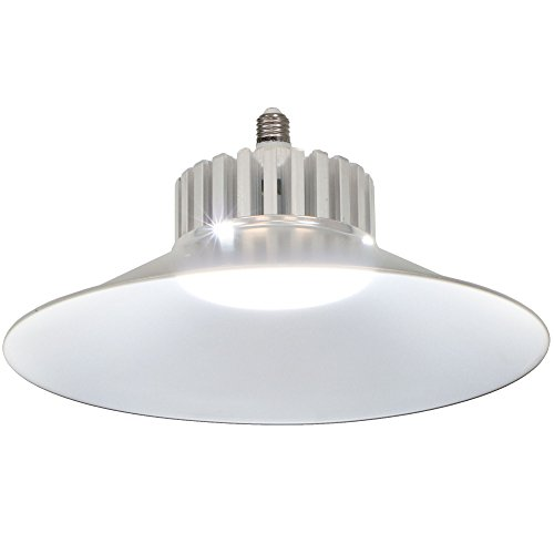 Reflector Hanger (ATM-LED 100W Energy-Efficient 6000K Daylight LED Replacement Utility Bulb with Aluminum Reflector, 11000 Lumens, Garage, Basement, Workshop or Shed, Single)