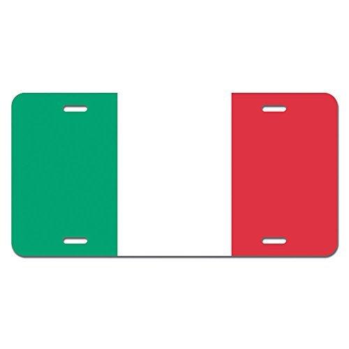 zaeshe3536658 Italy Flag - Italian Novelty Metal Vanity License Tag Plate Auto Tag 12 x 6 inch.