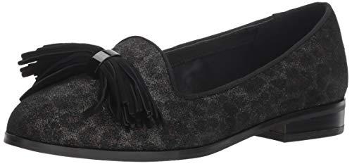 Anne Klein Suede Loafers - Anne Klein Women's Dixie Loafer Flat, Leopard, 7.5 M US
